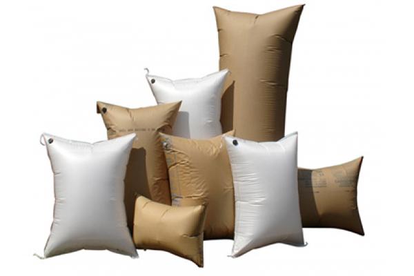 Mercancías sin daños con sacos hinchables