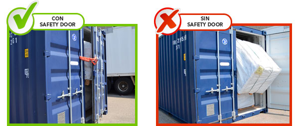 Safety door comparación J2 Servid